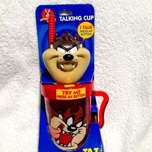 Vintage Looney tunes no spill talking cup